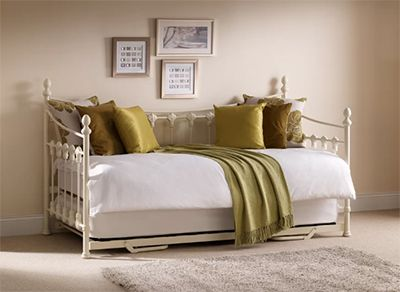 Adan Daybed with Trundle and Mattress, by Brandly Cottage
