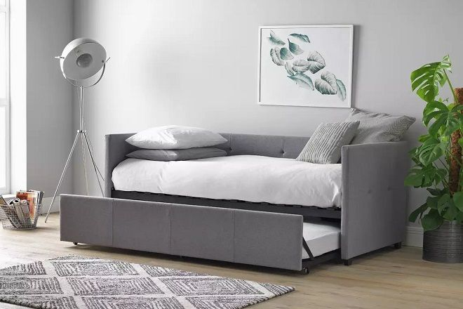 Argos Home Tamara Day Bed with Trundle & 2 Mattresses