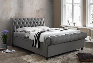 Chasewood tufted grey Upholstered Ottoman Bed