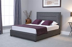 Cotta Upholstered grey Ottoman Bed by Mercury Row
