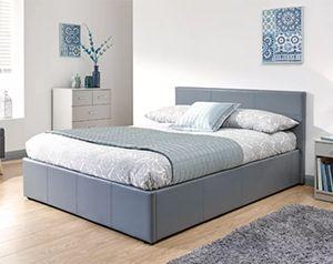 Gabriella Upholstered Ottoman Bed grey
