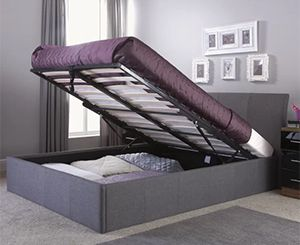 Guerriero Upholstered Ottoman Bed Frame, by Wrought Studio