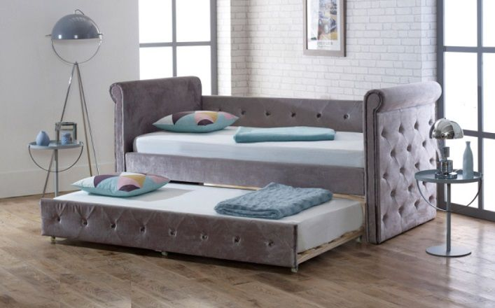 Limelight Beds Zodiac Velvet Day Bed With Trundle