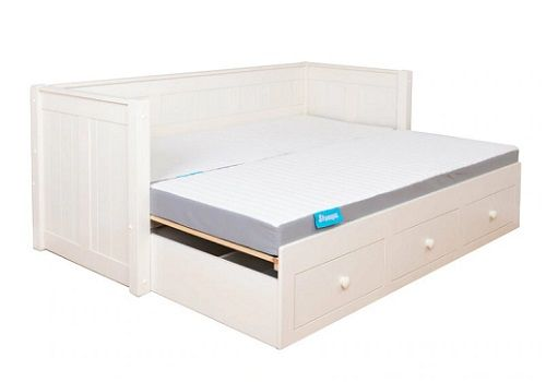 Mi Zone Wooden Double Day Bed by Stompa