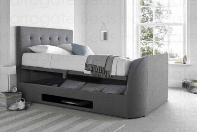 MW Kaydian Design Barnard Ottoman TV Bed smoke colour