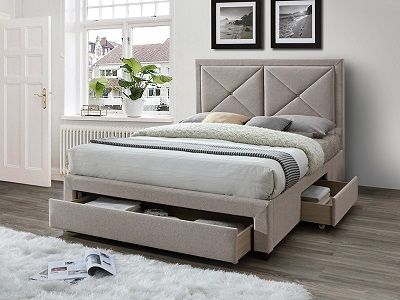 Cezanne Fabric Bed with Drawers, by Limelight