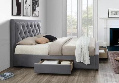 Lincolnwood Upholstered Storage Bed by Wrought Studio