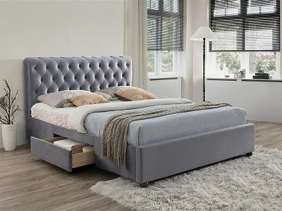 Marlow Fabric Bed with Drawers, Birlea