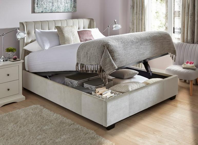Sana Fabric Upholstered Ottoman Bed Frame Reviews