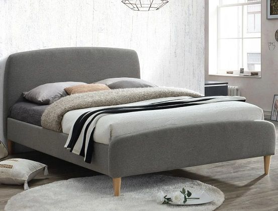 Quebec Grey Fabric Bed