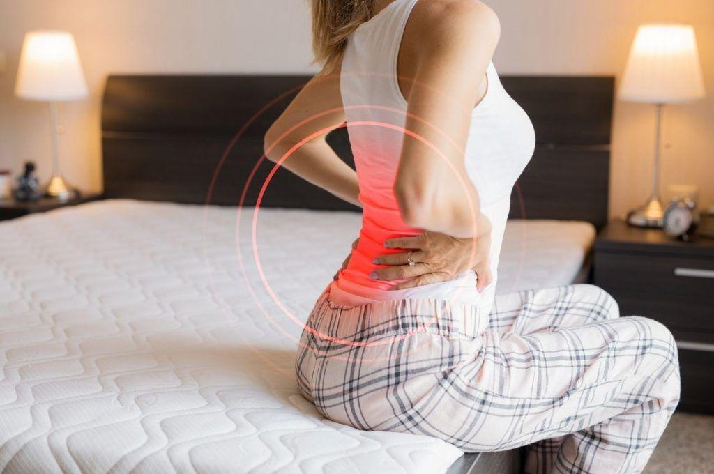 old mattress back hip problems