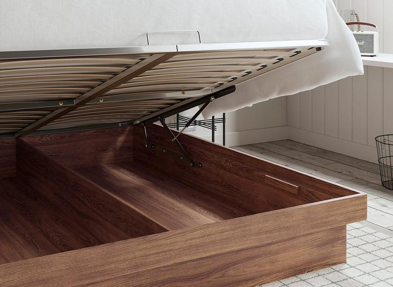 Isabella Wooden Ottoman Storage Bed