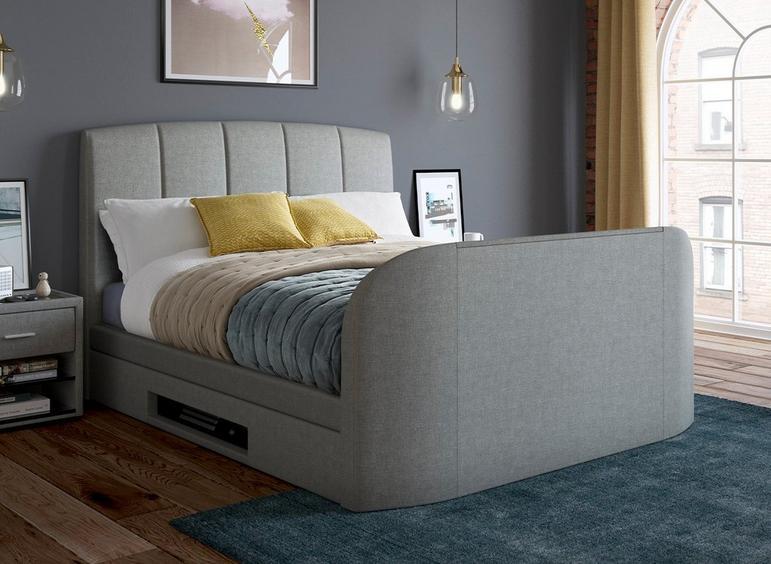 Seoul Upholstered Bed Frame with LED TV