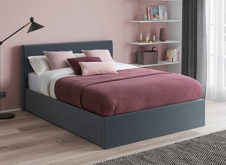 Yardley Upholstered Ottoman Bed Frame in grey
